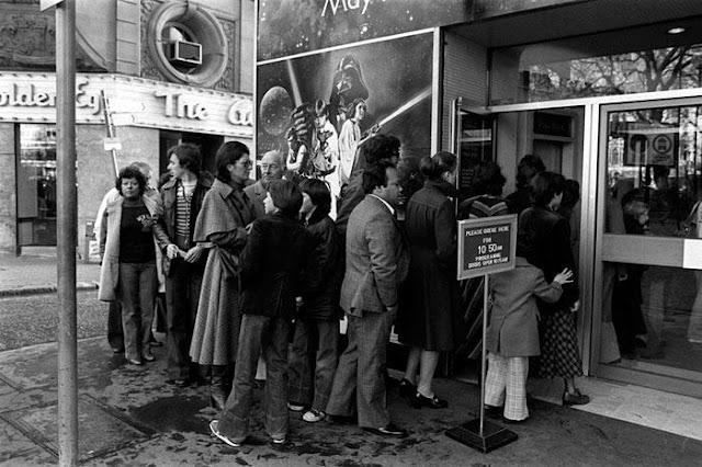 Fotografías del estreno de Star Wars en 1977