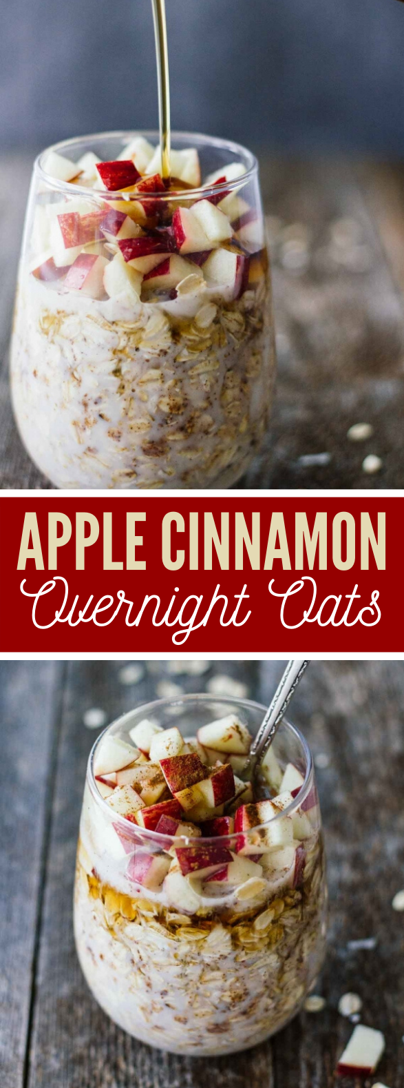 APPLE CINNAMON OVERNIGHT OATS #diet #healthy