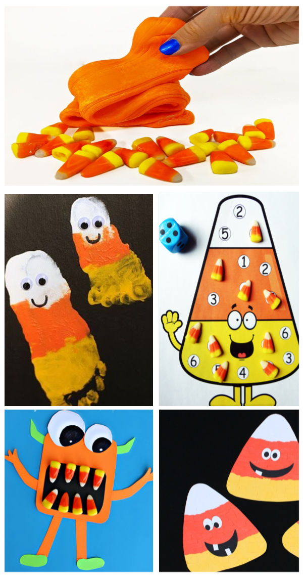 Candy corn crafts, activities, and science experiments for kids. How to make a candy corn volcano. #candycorn #candycorncrafts #candycornrecipe #candycornvolcano #candycornexperimentforkids #candycornexperiment #candycornactivities #candycorncraftspreschool #candycornscienceexperiment #growingajeweledrose #activitiesforkids #fallactivities