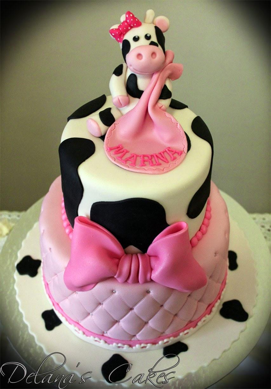 Delana S Cakes Cow Themed Babyshower Cake