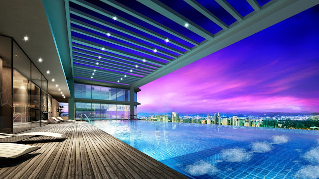 Bể bơi bốn mùa view cực đẹp
