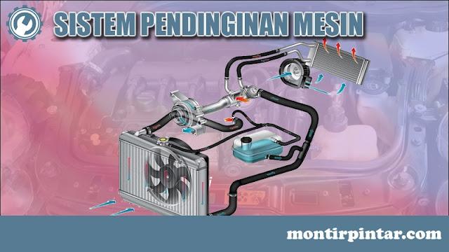kelengkapan mesin, sistem pendinginan mesin