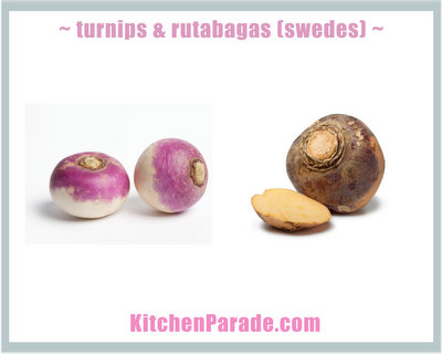 What Is a Turnip? A Rutabaga? A Swede? ♥ KitchenParade.com