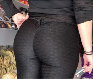 Video hermosa mujer leggins nalgas redondas
