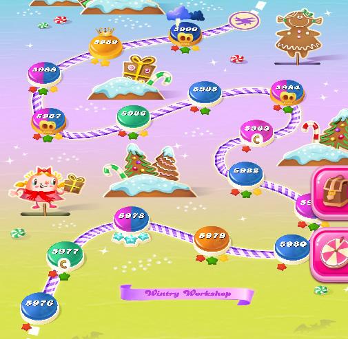 Candy Crush Saga level 5976-5990