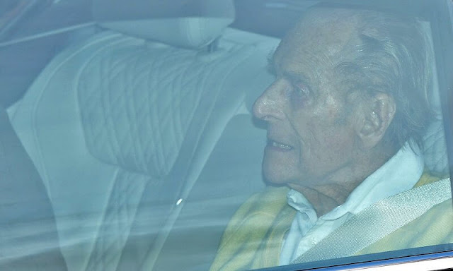 The Duke of Edinburgh, husband of Queen Elizabeth II, leaves hospital in London