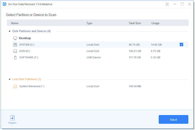 Screenshot Do Your Data Recovery 7.0 All Edition Full Version
