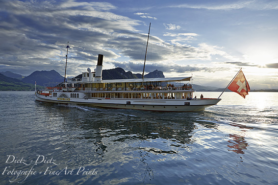 Sunset Cruise Steamer UNTERWALDEN