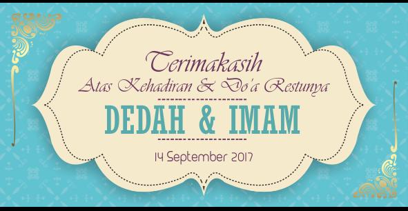 Undangan Pernikahan Imam Dedah Cdr Download Desain Cdr Gratis