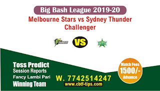 Who will win Today Big Bash, Challenger Match Star vs Thunder