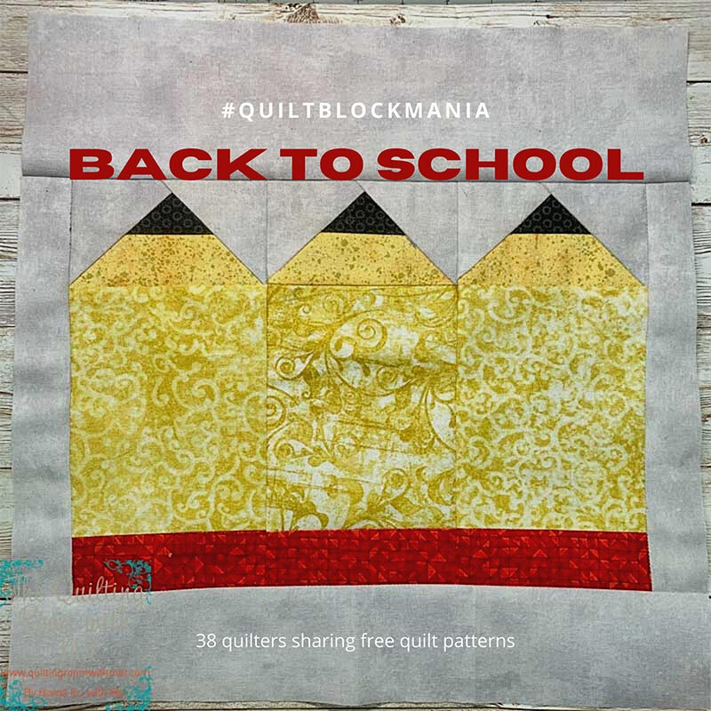 Make this cute pencil quilt block for all of the teachers in your life.