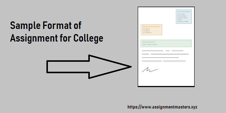 Sample Format of Assignment for College - Assignment Masters