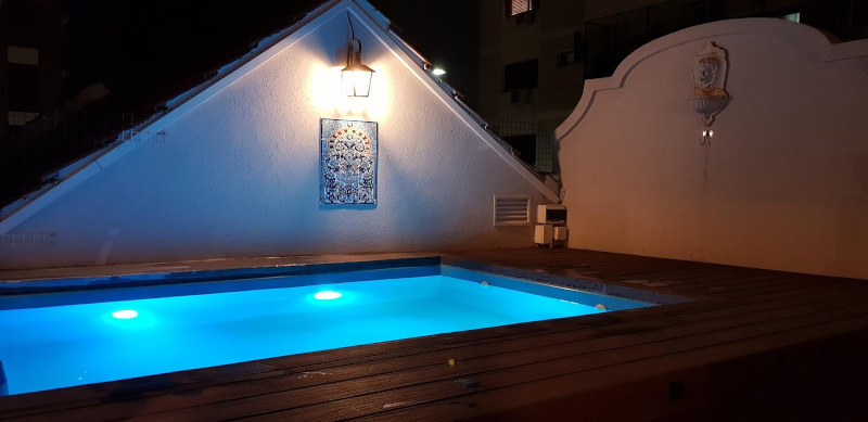 rooftop Pool with leds