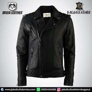 Jual Jaket Kulit Asli Garut Pria Domba Original Brida Leather B41 Ramones Reasing   WA 08813430588