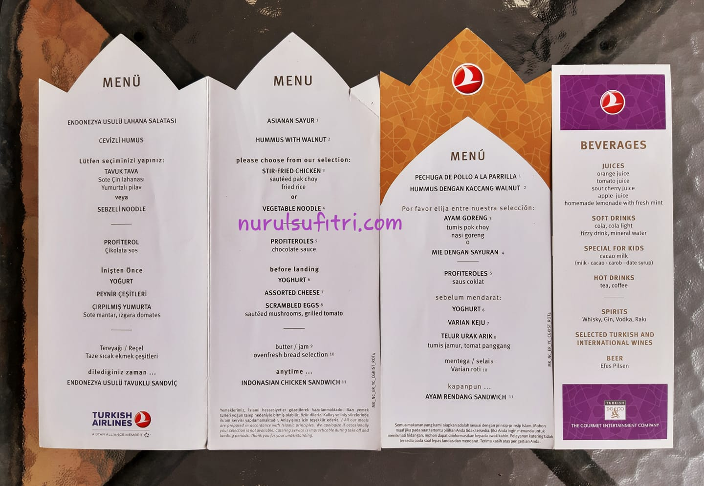 Turkish Airlines Makanan Enak Lezat Halal Nurul Sufitri Travel Lifestyle Blog