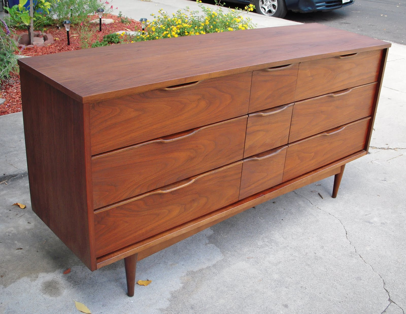 Sorry Sold Mid Century Danish Modern Bedroom Set Dresser Credenza Matching Tall Chest Solid Wood