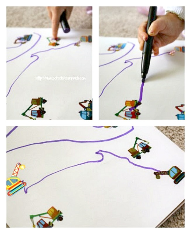 sticker activity for toddlers