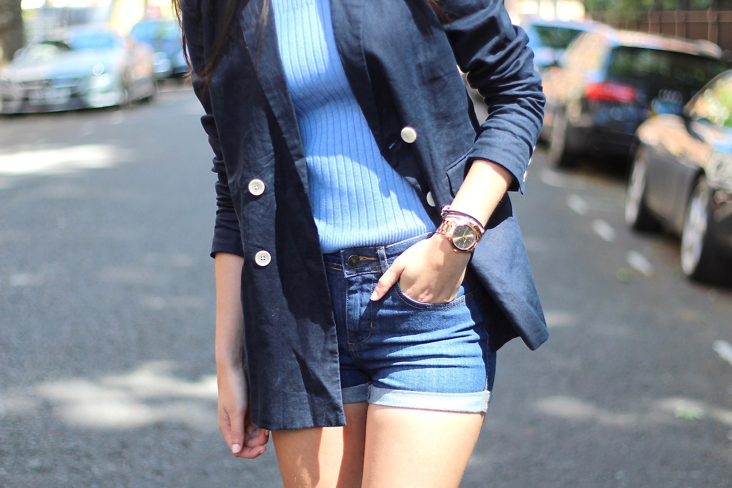 denim shorts city style peexo