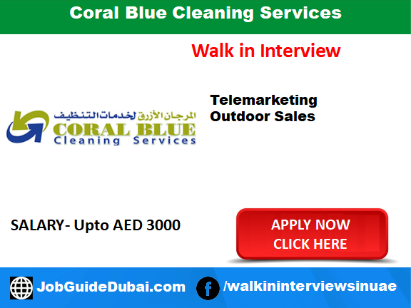 Job in Dubai for Outdoor Sales Executive and Telemarketing