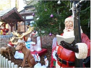decoración navideña para el patio delantero