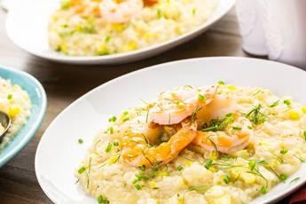 Para o Dia dos Namorados: risoto de camarão com limão siciliano