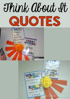 Pinterest Idea for your classroom! Here's more posters that are easyto hand letter and use to decorate. The poms are hand made also and hot glued to the wall!