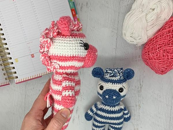 Mini Crochet Zebra Part 2