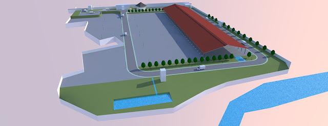 industrial building site plan