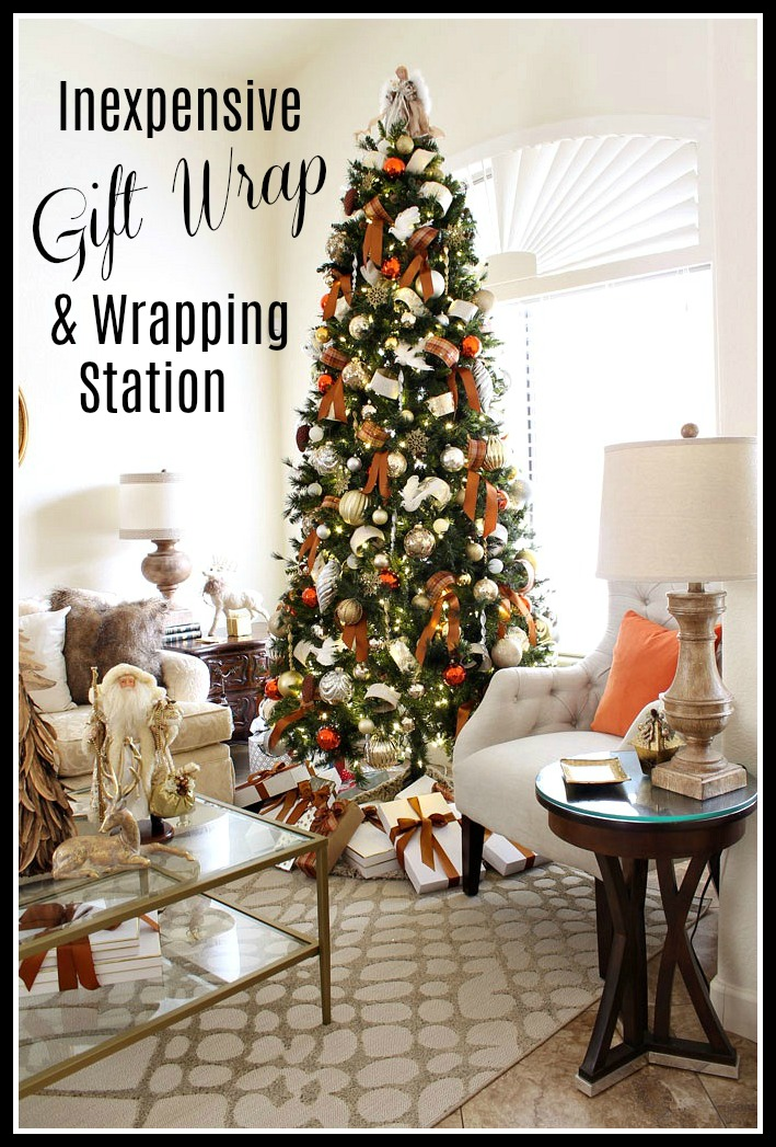 Christmas Gift Wrapping Station.Inexpensive Gift Wrap Wrapping Station A Stroll Thru Life