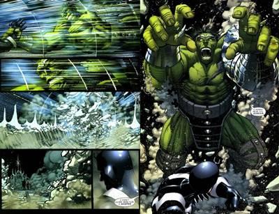 Enfrentamiento entre Hulk y Black Bolt de los Inhumanos