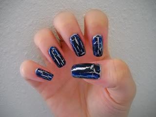 The Nail Goddess Opi Navy Blue Shatter Review