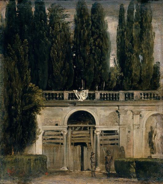 Диего Веласкес - Вилла Медичи в Риме, фасад грота Loggia (ок.1630)