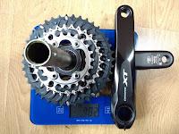 Pedalier Shimano 3x11 Deore XT FC M8000  peso 782 grs