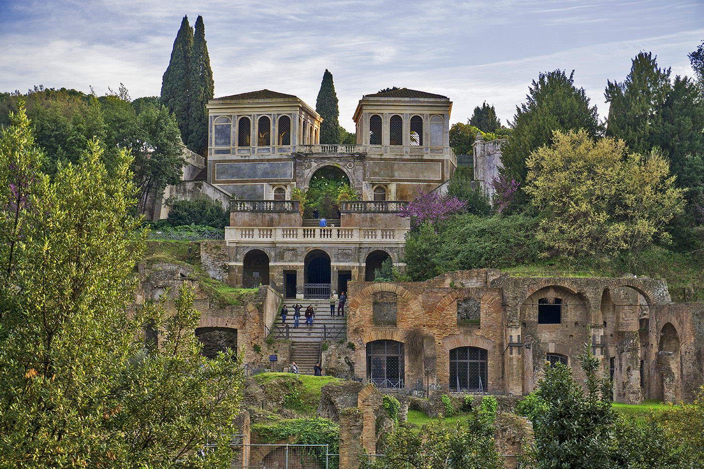 Photo of Palatine Hill from the Forum in Rome, Italy