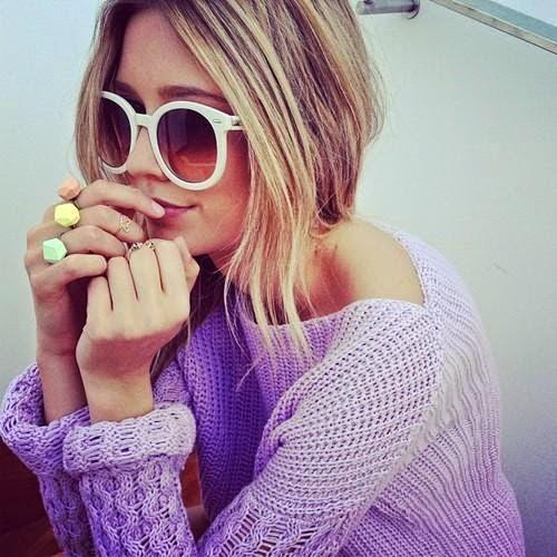pastel purple knit jumper