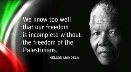 nelson mandela palestine