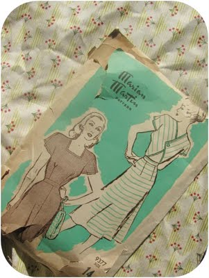 1940s vintage sewing pattern marion martin 9377