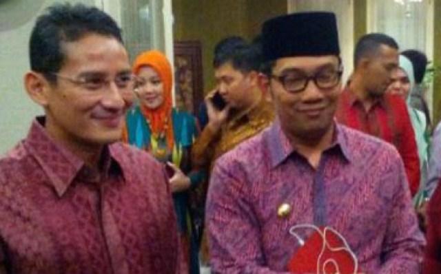 Sikap Sandi Tanggapi 'Kebaperan' Ridwan Kamil Sangat Berkelas dan Simpatik