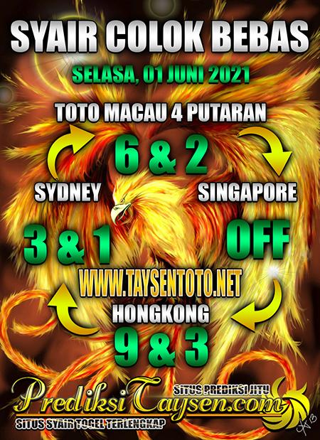 Prediksi Taysen Toto HongkongSelasa 01 Juni 2021