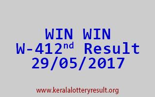 WIN WIN Lottery W 412 Results 29-5-2017