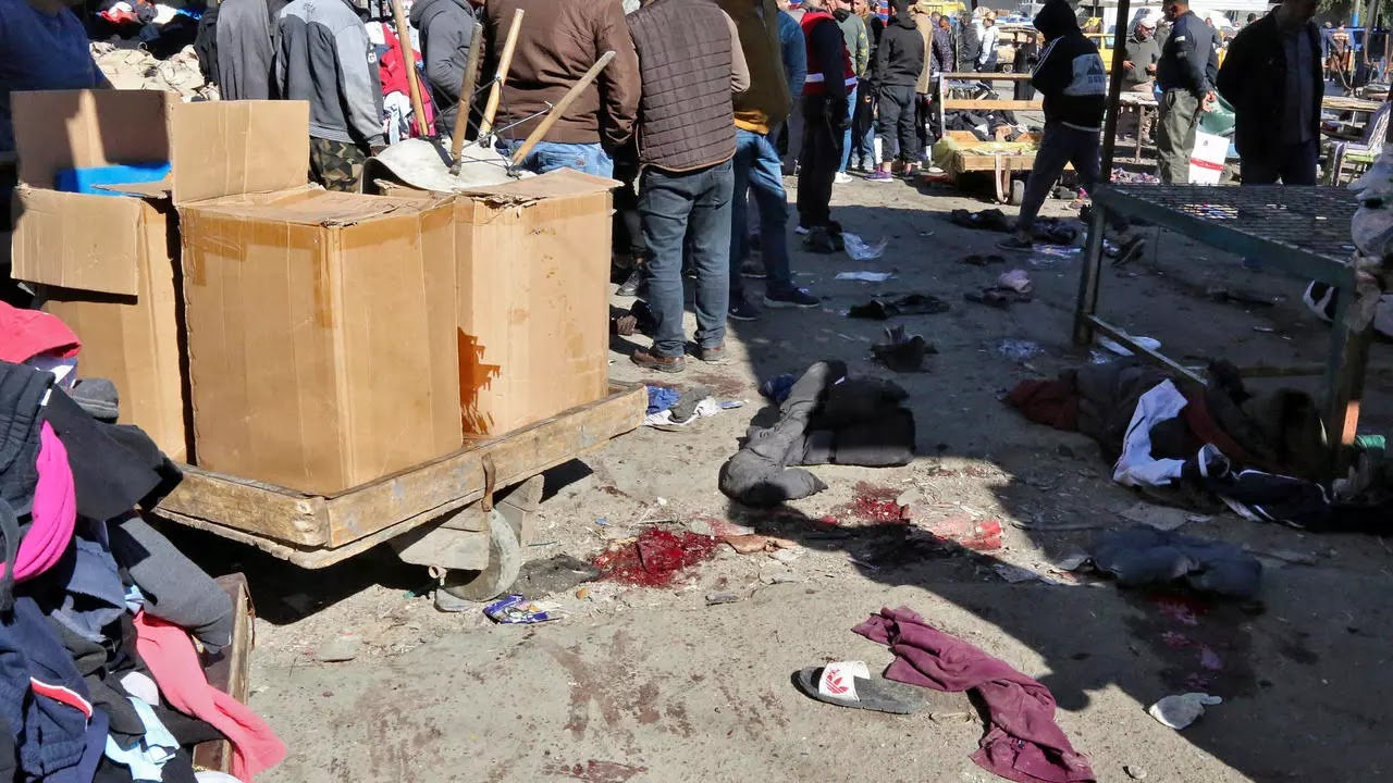 Two suicide bombings in central Baghdad kill at least 20 people