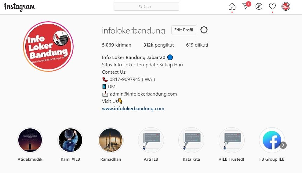 Instagram Infolokerbandung ( Official Akun Instagram #ILB)