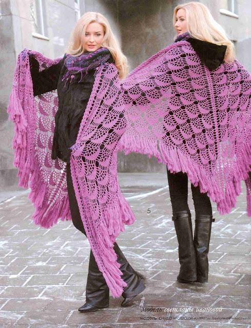 Patrón #1322: Chal a Crochet
