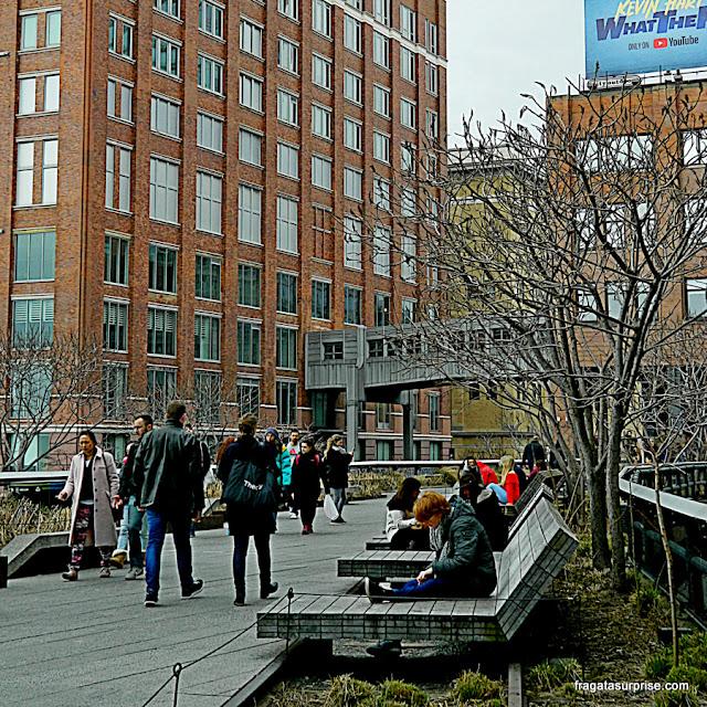 Espreguiçadeiras no High Line, Nova York