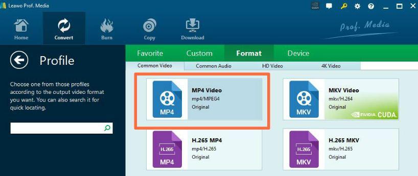 convertir video a formato mp4