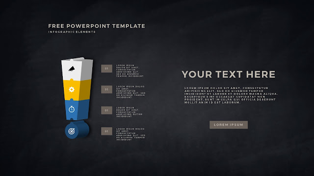 Free PowerPoint Template with 3D Puzzle and Sign Infographic Elements Slide 8