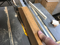 Cutting out the wood