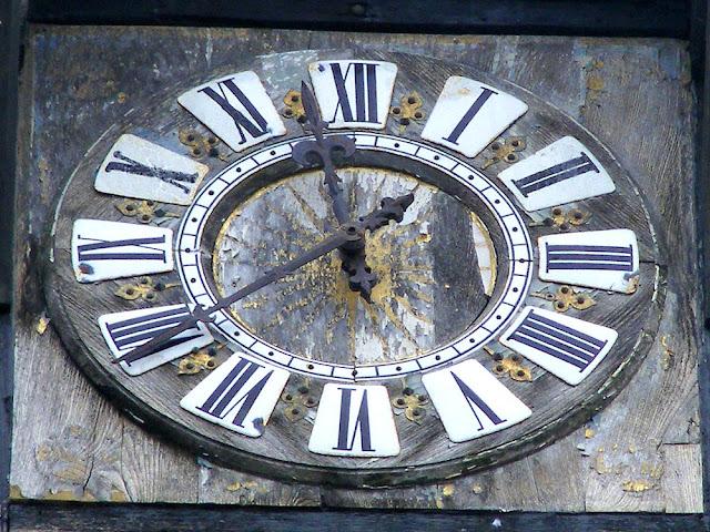 Clock face, Porte Picois, Loches, Indre et Loire, France. Photo by Loire Valley Time Travel.