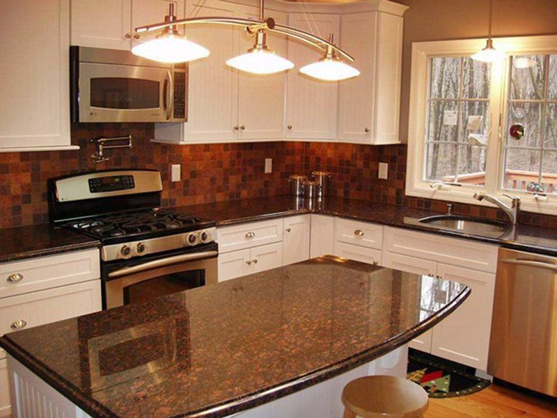 Kitchen Countertops With White Cabinets