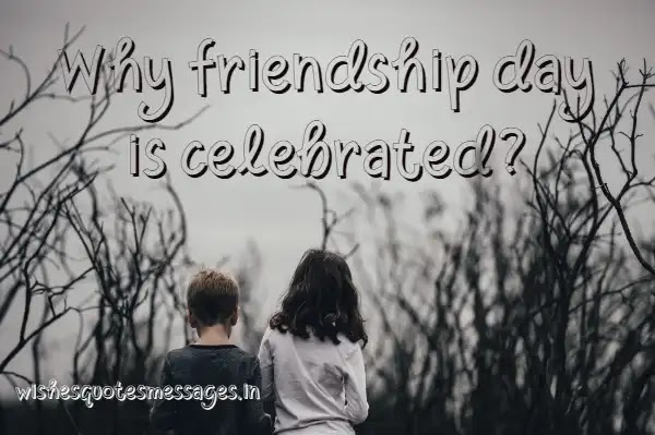 Why friendship day is celebrated?